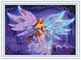 5D Diamond Painting Kits for Adults Butterfly Girl Full Drill Embroidery DIY Painting with Crystal Rhinestone Cross Stitch Painting Arts Crafts for Home Wall Decor 12 X 16 Inches YANFUN