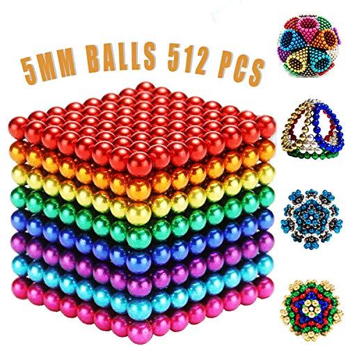 MBTRY 512 bolas pequeñas de juguete colorido DIY 5 MMBalls para ejercitar habilidades de pensamiento, aliviar el estrés, juguetes de escritorio de oficina para adultos