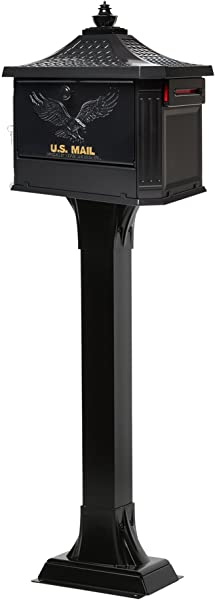 Gibraltar Mailboxes HEK00B01 Hemingway Security Mailbox Large Black