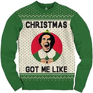 Elf Adult Unisex Xmas Got Me Like Medium Weight Crew Ugly Sweater