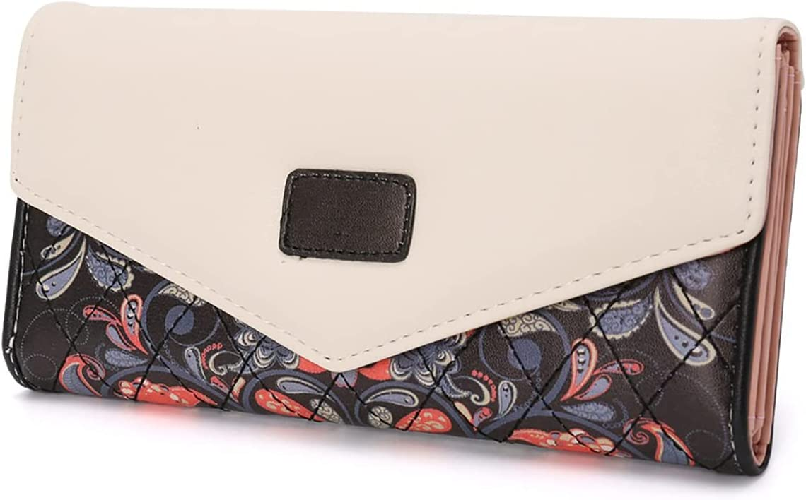 Long Wallet for Women Slim Envelope Cute Super beauty product restock quality top Floral Wall Popular standard