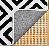 Gorilla Grip Original Extra Strong Rug Pad Gripper, Made in USA, 5x7 FT, Thick Slip and Skid Resistant Pads for Area Rugs on Hard Floors, Under Carpet Mat Cushion and Hardwood Floor Protection