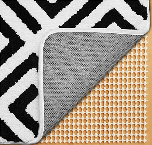 Gorilla Grip Original Extra Strong Rug Pad Gripper, Made in USA, Thick Slip and Skid Resistant Pads for Area Rugs on Hard Floors, Under Carpet Mat Cushion and Hardwood Floor Protection, 4x6 FT
