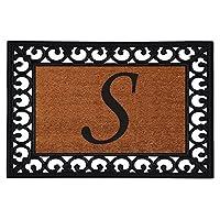 """19"""" x 25"""" Monogrammed Insert Doormat (Letter S)"""
