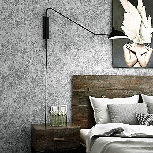 Vintage Papel Pintado Pared 3D Gris Cemento Tela No Tejida Dormitorio Decoración Cocina Salon Pared De Fondo Oficina Hotel Tienda De Ropa Sin Pegamento 0.53 * 9.5 M