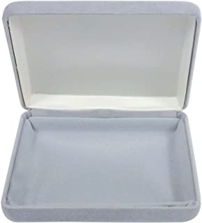 Tom David Lewis Jewelry Display/Gift Box, Grey Velvet - Holds Bracelet, Necklace, Belt Buckle.