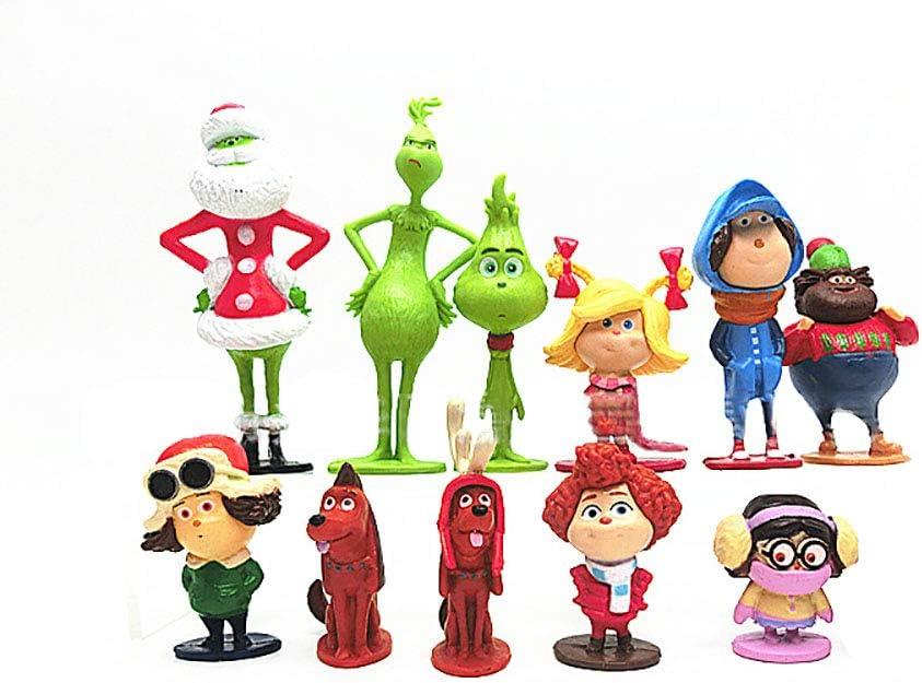 Dondonmin How The Grinch Stole Christmas Puppen Handb/üro Modell Spielzeug Dekoration Figur Spielzeug Kreative Puppen for Erwachsene und Kinder Unisex Color : A01, Size : 3-13cm