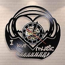 J'aime la Música Piano Teclado Heartbeat disco vinilo aplique pared Boeing Música Campanas Voz Cascos Decoración Pared 12