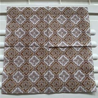 HXQCZ Decoupage wedding servilletas vintage elegant napkins paper tissue printed flowers pattern striped birthday party de...