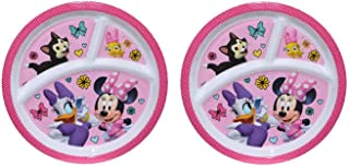 2-Pack Zak Designs Toddler Plate 3-Section 8