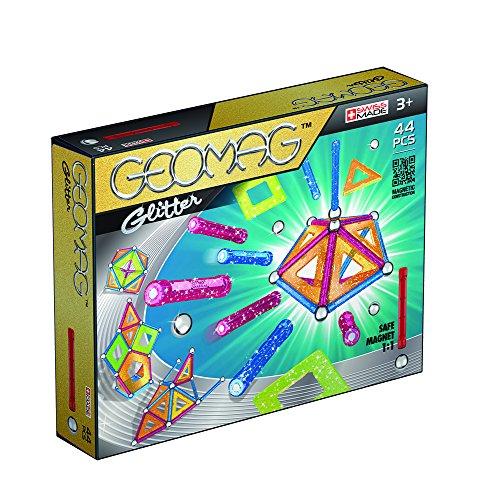 Geomag- Glitter Gioco di Costruzione Magnetico, Multicolore, 44 Pezzi, 532