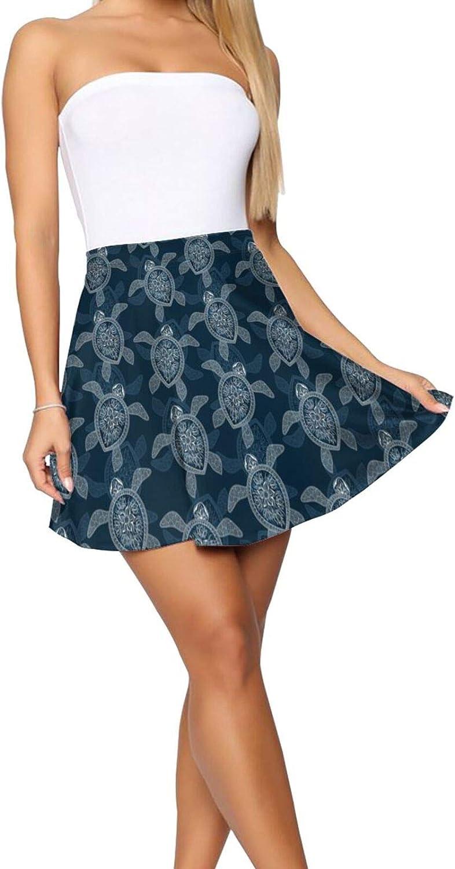 Mini Pigs and A Hearts Women's Skater Skirt Fashion Short Skirt