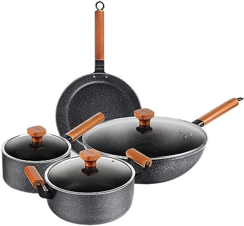ZHAO YING Blé Couleur De La Pierre Poêle à Frire Antiadhésive Cuisinière à Induction Wok Poêle à Frire Poêle à Soupe Pot à Lait