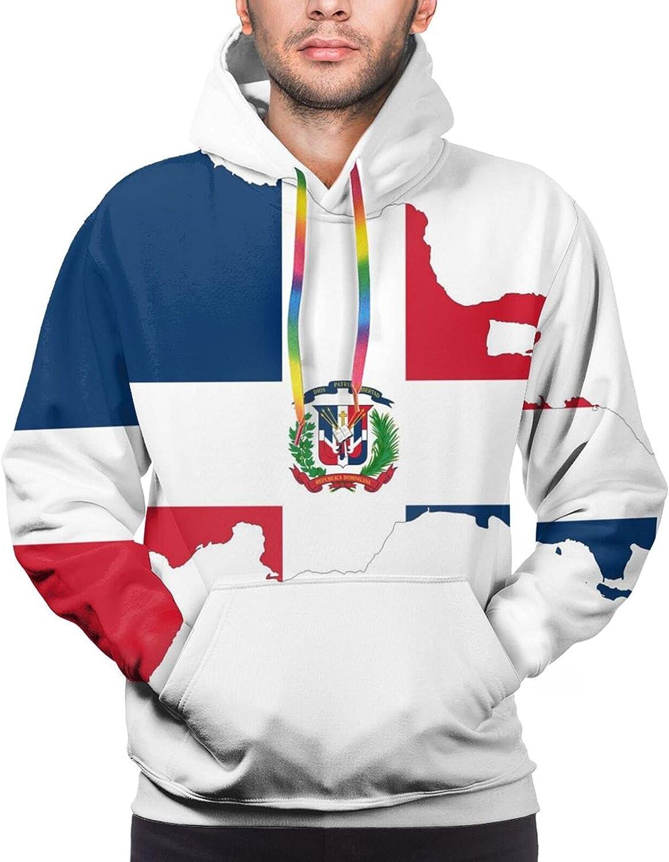 Hoodie For Mens Womens Teens Dominican Republic Map Flag Double-Sided 3d Sweatshirt Hoodie