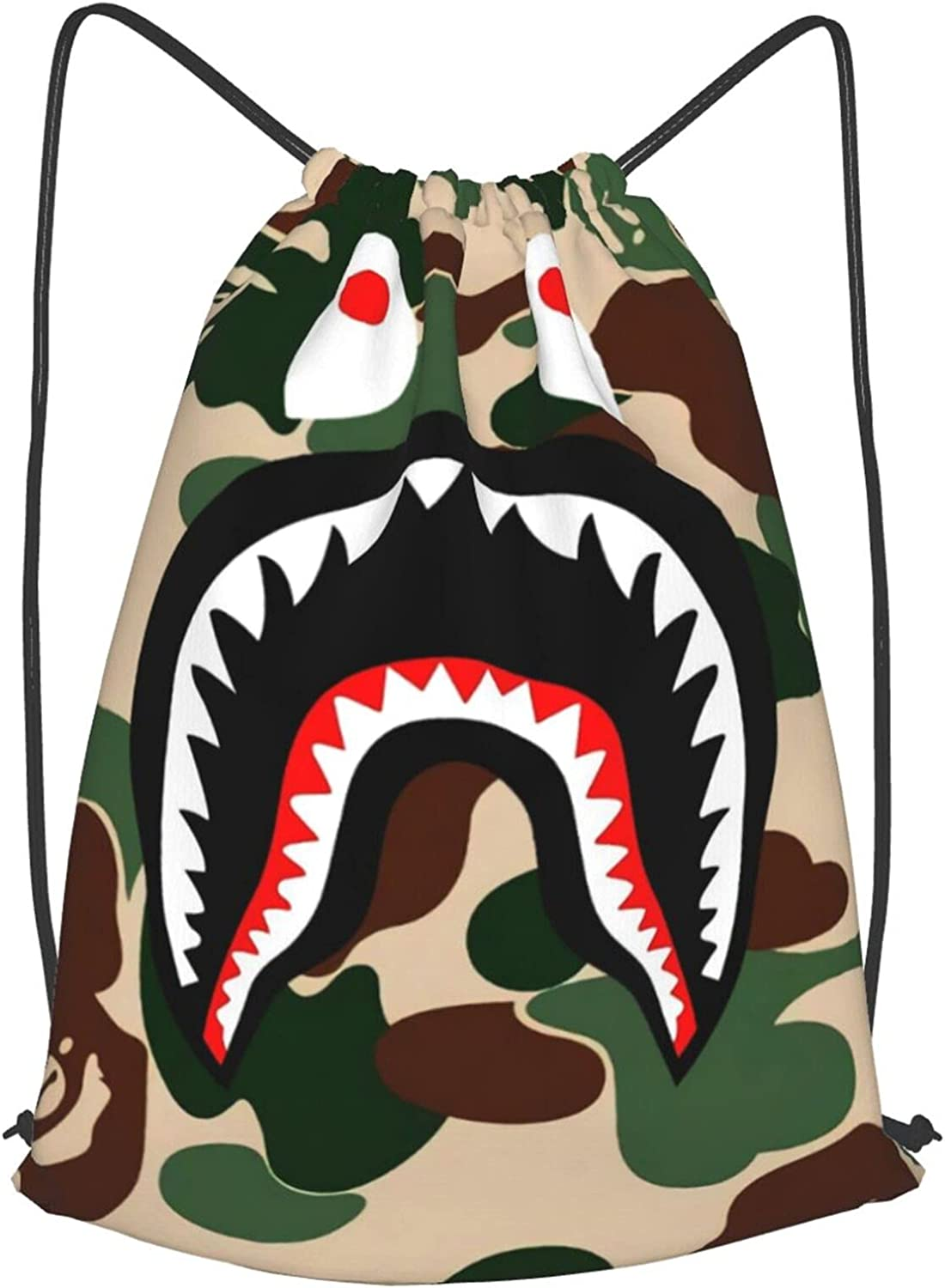 AAPE Bape Shark Camo Backpack Resistan Sackpack Drawstring Water Sale Super sale period limited special price