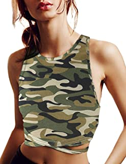 ASMAX HaoDuoYi Womens Jersey Training Sports Crop Top Backless Tank T Shirt