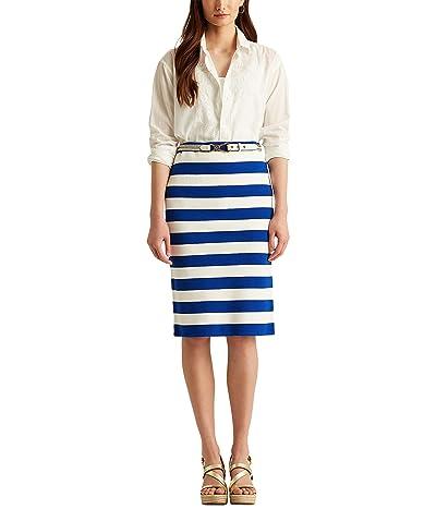 LAUREN Ralph Lauren Striped Cotton-Blend Skirt