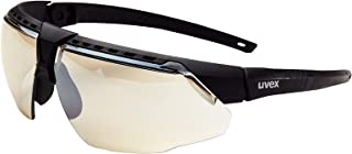 Uvex by Honeywell Avatar Safety Glasses, Black Frame with SCT-Reflect 50 Lens & Anti-Scratch Hardcoat (S2854)