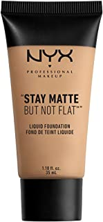 NYX PROFESSIONAL MAKEUP Stay Matte but not Flat Liquid Foundation, Medium Beige, 1.18 Fluid Ounce