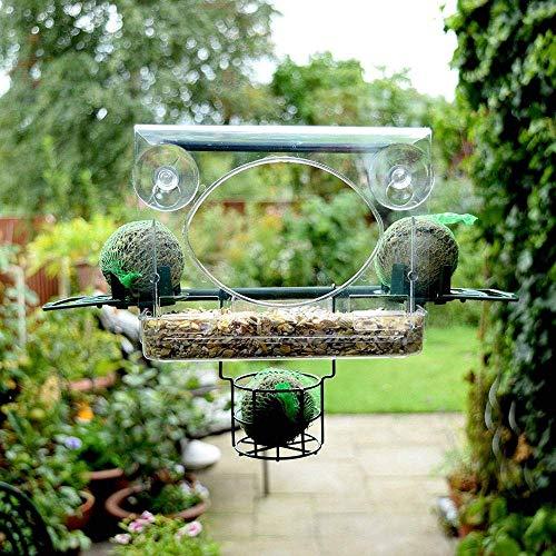Anjing Fenster-Vogelfutterstation mit beweglicher Trennwand