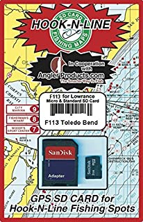 Hook N Line Toledo Bend Reservoir GPS Map SD Card with Fishing Hotspot Locations