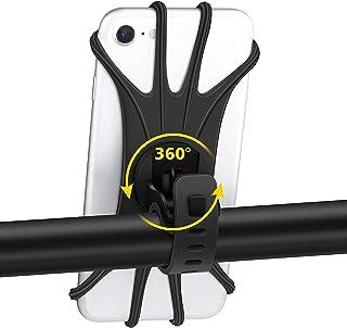 自転車スマホホルダー 取り外す可能 脱落防止 360度回転 10cm-16cmインチiphone Android全機種対応 防水機能 バイク オートバイ スマホ ホルダー