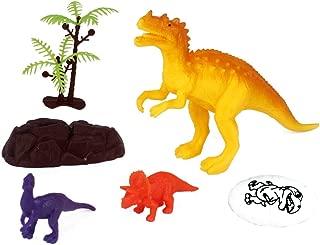 Kit Dinossauros com 6 Peças, Wellmix, Multicor