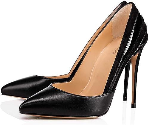 Chaussures pour Femmes Talons Hauts Pointus à Une Jambe Four Seasons (Couleur   Noir, Taille   36)