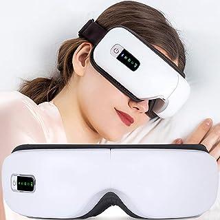 Máscara de ojos masaje de la vibración de los ojos masajeador eléctrico Bluetooth con música de masaje de compresión de aire de calor gafas unidad de cuidado de la vista,Blanco