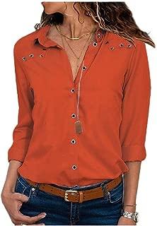 RkYAO Women's Fall Winter Long Sleeve Chiffon Plain Classic Tunic Top