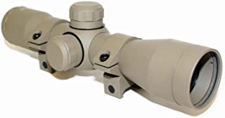 DB TAC FieldSport TAN Anodize Finished 4X32 Compact Mil-Dot .223 .308 Scope with Rings