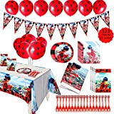 GROBRO7 123Pack Ladybug Themed Party Supplies Ladybug Birthday...