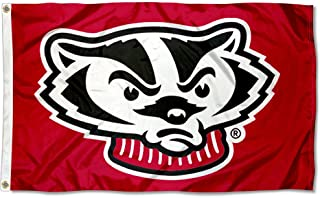 College Flags and Banners Co. UW Wisconsin Bucky Badger Banner Flag
