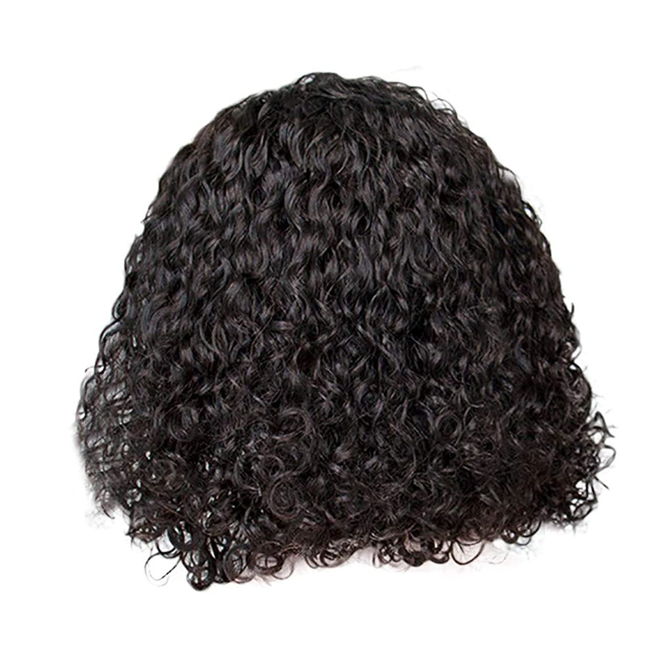 Sonmer Women Brazilian Less Rose Hair Net Wave Black Natural Looking Wigs,14inch