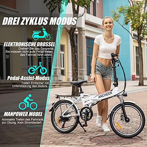 ANCHEER E-Bike Klapp / Falt Elektrofahrrad 20 Zoll Bild 4*