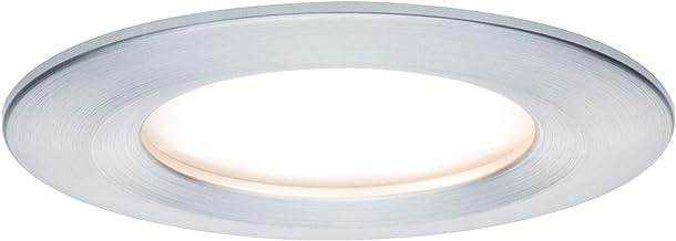 Paulmann Paulmann 939.00 93900 LED Coin vlakke inbouwspot Slim plafondspot rond 6,8 W aluminium inbouwlicht dimbaar IP44 s...