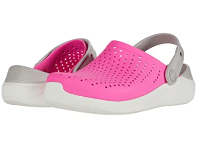 Crocs Kids LiteRide Clog (Little Kid/Big Kid) (Electric Pink/White) Kid