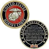 USMC Prayer Coin - Marine Corps Valor USMC Challenge Coin - Officially Licensed - USMC Gift