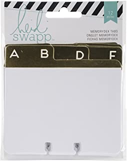 Heidi Swapp 369334 Cards Memory Decks-Address Book-Gold Foil (12 Piece)