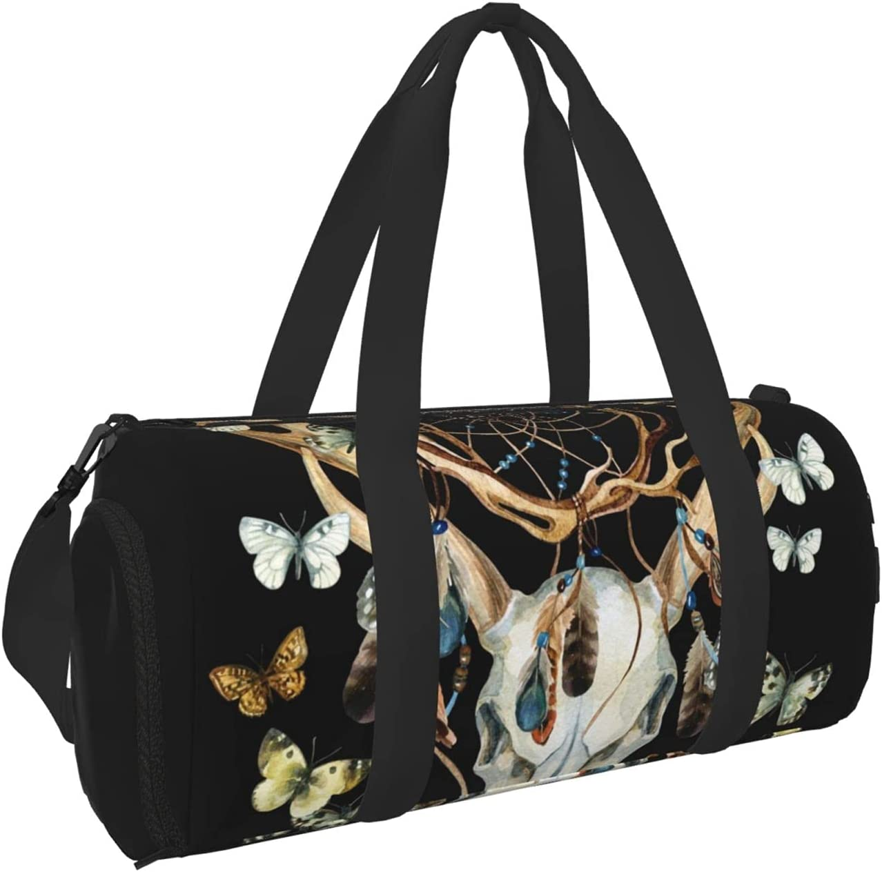 Timeergy Ranking TOP13 Deer Skull Dream Cather Travel Gym Dealing full price reduction Bag Duffel Butterfly
