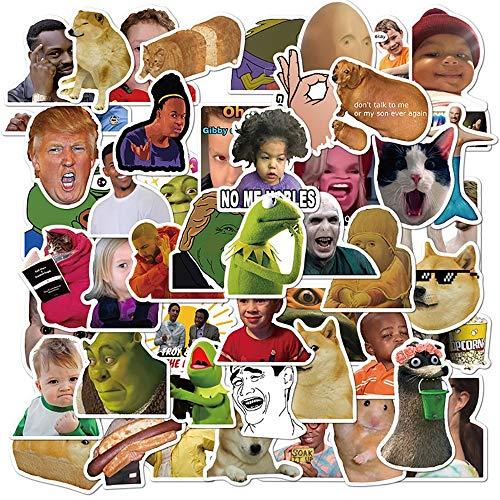 50PCS Classic Meme Stickers Frigo fai da te Chitarra Laptop Moto Bagagli Skateboard Graffiti Joke Sticker Decal Kid Toys Gift