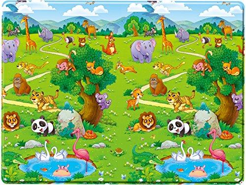 Bieco 95000000–Alfombra de juegos para bebé (Espuma, aprox. 180x 120x 1,20cm