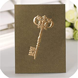 12set Fairy Tale Theme Key Card Leave Message Cards Lucky Love Valentine Christmas Party Invitation Letter Envelope,as Picture