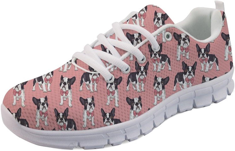Nopersonality Women's Tennis Basic Athletic Sneaker Trendy Flower Print shoes