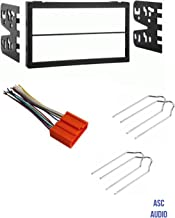 ASC Car Stereo Dash Install Kit, Wire Harness, and Radio Tool for Installing a Double Din Aftermarket Radio for Some Mazda Vehicles - Important: Read Compatible Vehicles and Restrictions Listed Below