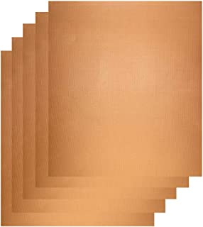 """MTB Grill Mat (5 Pack) Size 13""""x16"""", Copper Color, Reusable and Easy to Clean, Works on Gas, Charcoal, Electric Grill and More"""