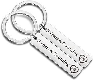 Anniversary Keychain Couples Keychains Set 1st 5th 10th 20th Wedding Anniversary Key Chain Couples Jewelry for Boyfriend Girlfriend Husband Wife