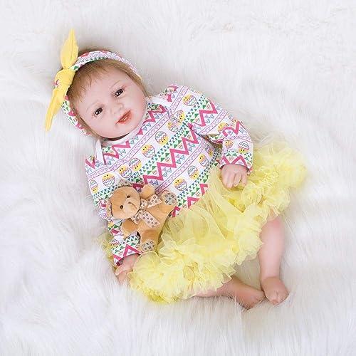 Hongge Lebensechte Silikon Reborn Puppe Baby Wachstum Partner Reborn Puppe Spielzeug Geburtstagsgeschenk 55cm