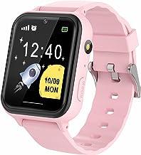 ساعت مچی بچه گانه دخترانه پسرانه - ساعت هوشمند صفحه لمسی با تلفن تماس SOS Music Player بازی دوربین های زنگ هشدار برای تولد کریسمس (S19 -Pink)