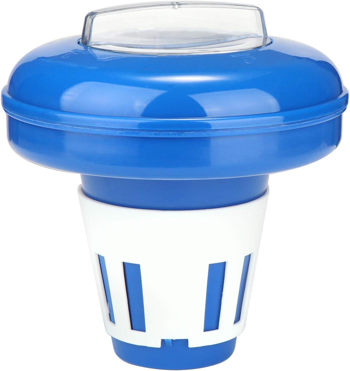 com-four® Flotador Dosificador para Piscina- Dispensador de Productos Químicos para Tabletas Cloro o Bromo- Dosificación Justa Aditivos para Piscinas